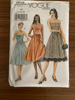 Vogue v8149 vogue basic strapless dress pattern