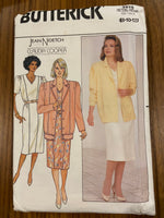 Butterick 3970 vintage 1980s Jean Nidetch for Claudia Cooper dress and jacket sewing pattern