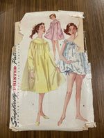 Copy of Simplicity 1431 vintage 1950s teen nightgown sewing pattern