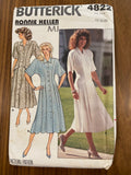 Butterick 4822 vintage Ronnie Heller 1980s dress pattern