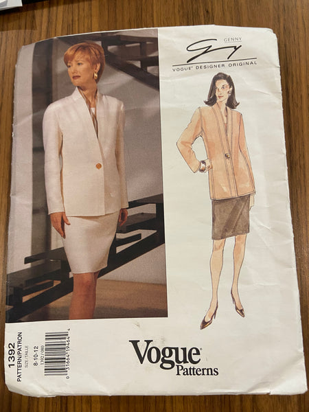 Vogue 1392 vintage 1990s Vogue Designer Original Genny dress pattern