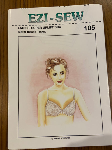 Ezi-sew 105 vintage ladies super uplift bra pattern sewing pattern