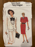 Vogue 9485 vintage 1980s skirt and blouse sewing pattern