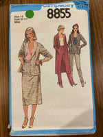 Simplicity 8855 vintage 1970s jacket, skirt and pants sewing pattern