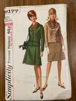 Simplicity 6177 vintage 1960s suit sewing pattern