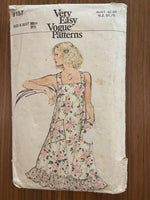 Very easy vogue 9157 vintage 1970s  dress sewing pattern