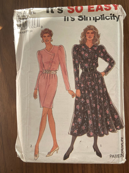 Simplicity 8095 vintage 1990s  dress sewing pattern