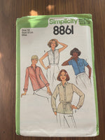 Simplicity 8861 vintage 1970s blouse sewing pattern