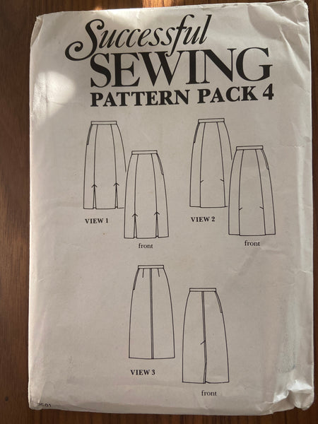 Successful sewing pack 4 vintage 1970s skirt pattern