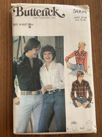 Butterick 5006 vintage 1970s women's shirt sewing pattern