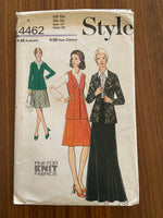Style 4462 vintage 1970s cardigan and skirt pattern