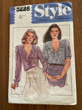 Style 3226 vintage 1980s blouse sewing pattern