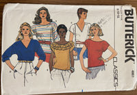 Butterick 4861 vintage 1980s tops sewing pattern