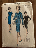 Weigel's 2650 vintage 1960s dress and jacket sewing pattern