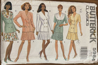 Butterick 5984 vintage 1990s top and skirt sewing pattern