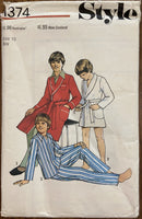 Style 1374 vintage 1980s boy's robe sewing pattern