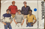 Butterick 6797 vintage 1980s men's tops sewing pattern