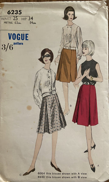 Vogue 6235 vintage 1960s skirt pattern