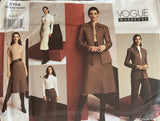 Vogue 2756 vogue wardrobe 2003 skirt, pants, dress and jacket sewing pattern
