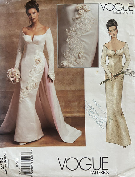 Vogue 2720 vogue bridal original wedding dress sewing pattern