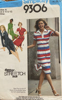 Simplicity 9306 Vintage 1980s dress of skirt and top sewing pattern