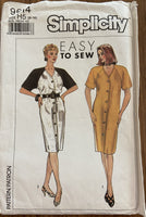 Simplicity 9614 vintage 1990s dress sewing pattern