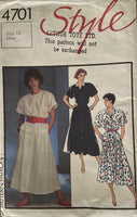 Style 4701 vintage 1980s skirt and tops pattern