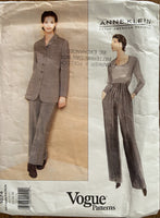 Vogue 1674 Vogue American Designer Anne Klein jacket and pants pattern