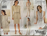 Vogue 1635 Vogue American Designer Calvin Klein jacket, dress, skirt and pants pattern