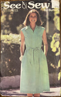 Butterick 5754 vintage 1970s  dress sewing pattern