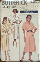 Butterick 5993 vintage 1980s dress sewing pattern J.G.Hook