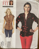 Vogue v1260 today's fit by Sandra Betzina blouse sewing pattern