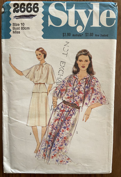 Style 2666 vintage 1970s dress sewing pattern