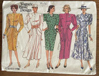 Vogue 1796 vintage 1980s dress pattern