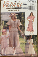 Butterick 6783 vintage 1990s dress sewing pattern multisize