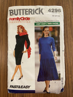 Butterick 4296 Vintage 1980s dress pattern