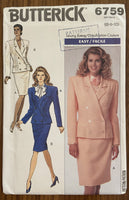 Butterick 6759 vintage 1980s jacket and skirt suit sewing pattern