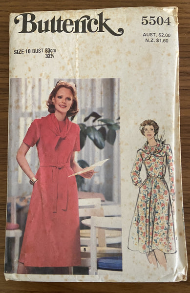 Butterick 5504 vintage 1970s  dress pattern