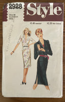 Style 2928 vintage early 1980s skirt and jacket sewing pattern