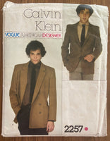 Vogue 2257 vintage 1970s Calvin Klein men's jacket pattern