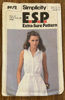 Simplicity 8972 vintage 1970s  dress sewing pattern