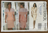 Butterick 6060 vintage 1990s top and skirt sewing pattern