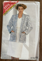 Butterick 5575 vintage 1980s jacket, top and skirt pattern