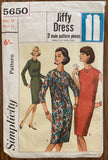 Simplicity 5650 vintage 1960s dress pattern - wounded