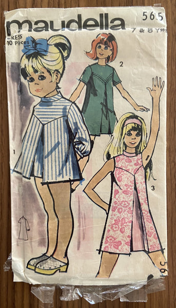 Maudella 5615 vintage 1960s child's dress sewing pattern