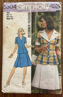 Simplicity 5504 vintage 1970s skirt and top pattern