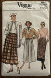 Vogue 9754 vintage 1980s skirt sewing pattern