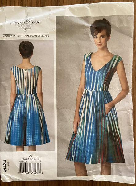 Vogue V1433 Tracy Reese dress pattern from 2015