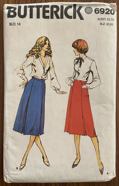 Copy of Butterick 3322 vintage 1980s skirt sewing pattern