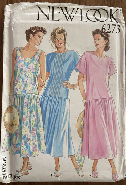 New Look 6273 vintage 1980s dress pattern